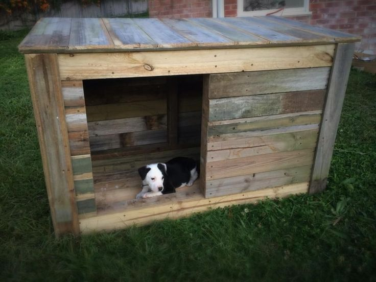 upcycled pallet doghouse