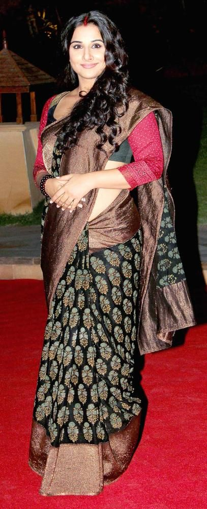 Vidya Balan Style Saree | For More collection of #Celebrity #Saree #Collection @ www.prafful.com