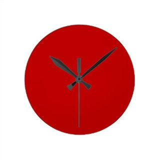 Red wall clock for Valentine day home decor