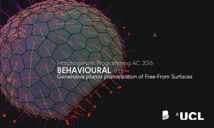 BEHAVIOURAL v0.1 | Planar Tessellation of Freeform Surfaces using Agent Based Modeling. on Vimeo