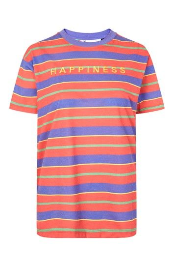 137a85622e Happiness' Stripe T-Shirt by Tee & Cake | fashion | T shirt, Fashion ...