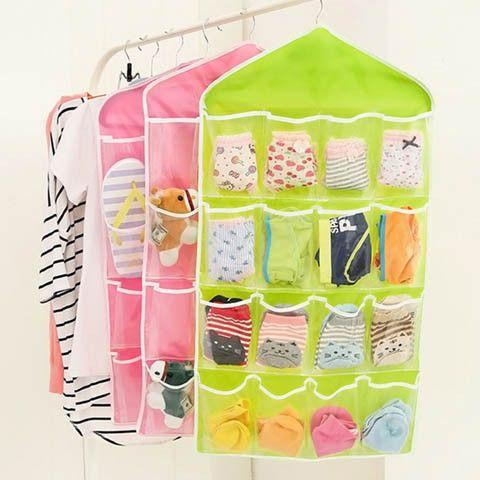 Foldable Wardrobe Hanging Bags Socks Clothes Storage Bag