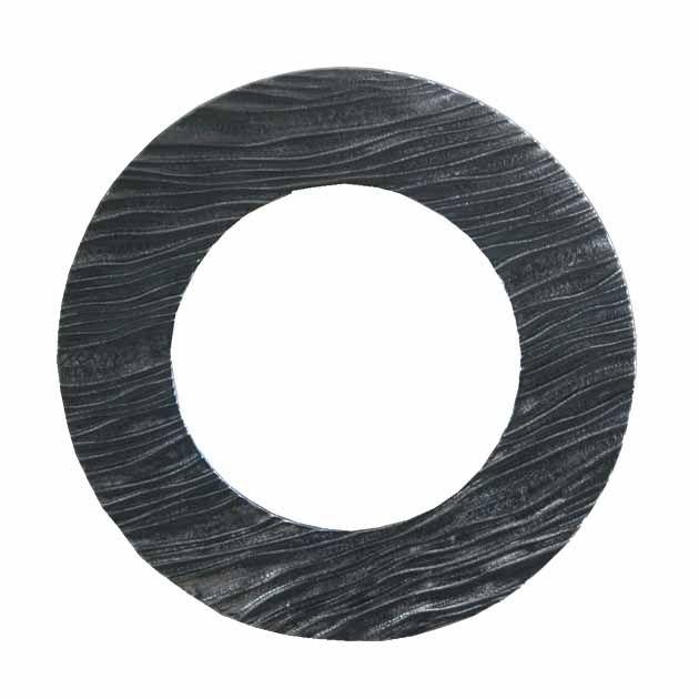 Καθρέφτης Στρογγυλός Μαύρος/Γκρι Ανάγλυφος 49εκ