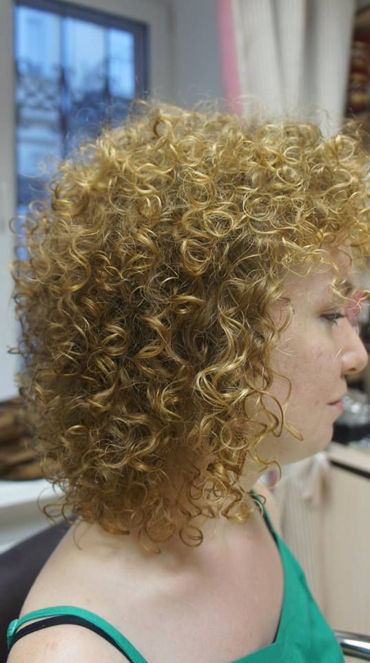shoulder length perm with lots of curl | Curly Hair / Perms | Pintere ...