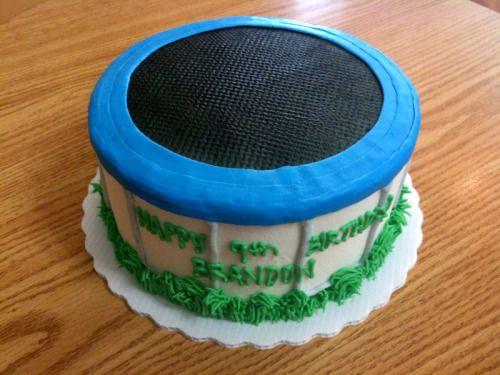 how to make trampoline cake