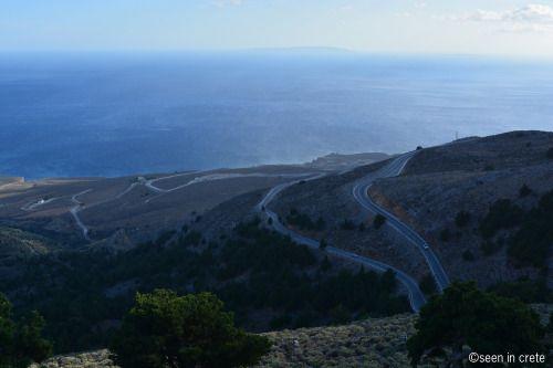 The road to Sfakia and Frangokastello / Libyan sea with Gavdos and Gavdopoula