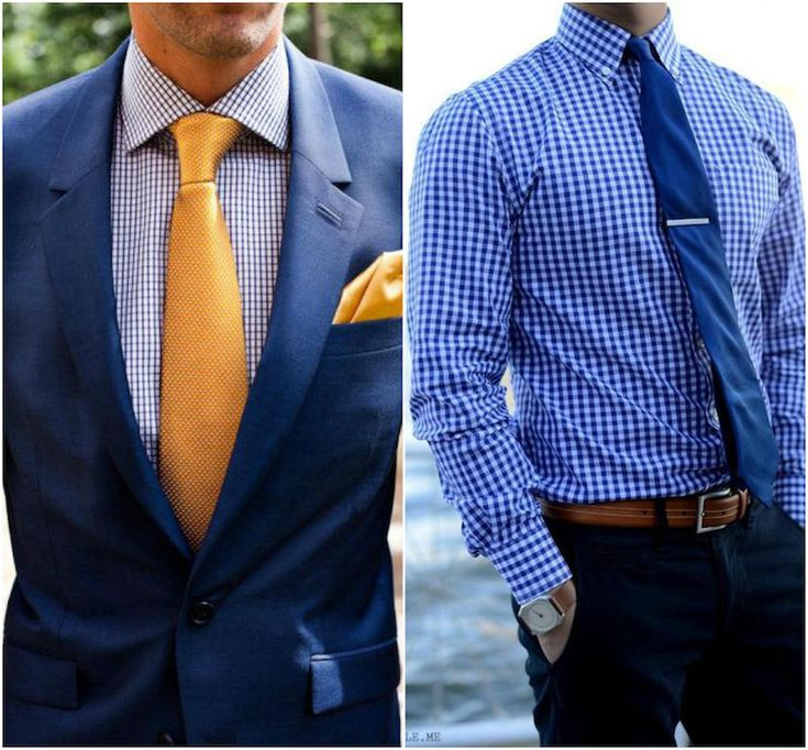 blue-checkered-shirt-and-tie-combination