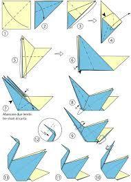 Risultati immagini per origami istruzioni cigno
