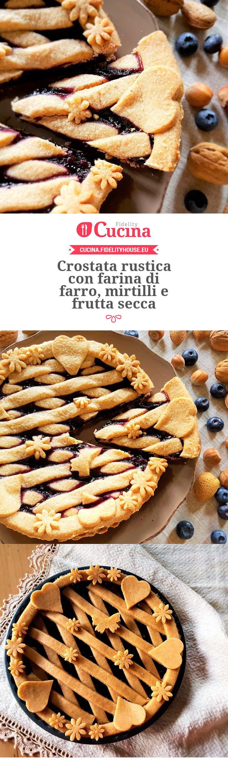 Crostata rustica con farina di farro, mirtilli e frutta secca della nostra utente Grazia. Unisciti alla nostra Community ed invia le tue ricette!