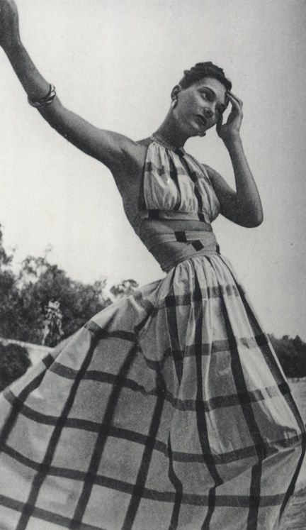 Dress fashion by Clare McCardell, 1950s.