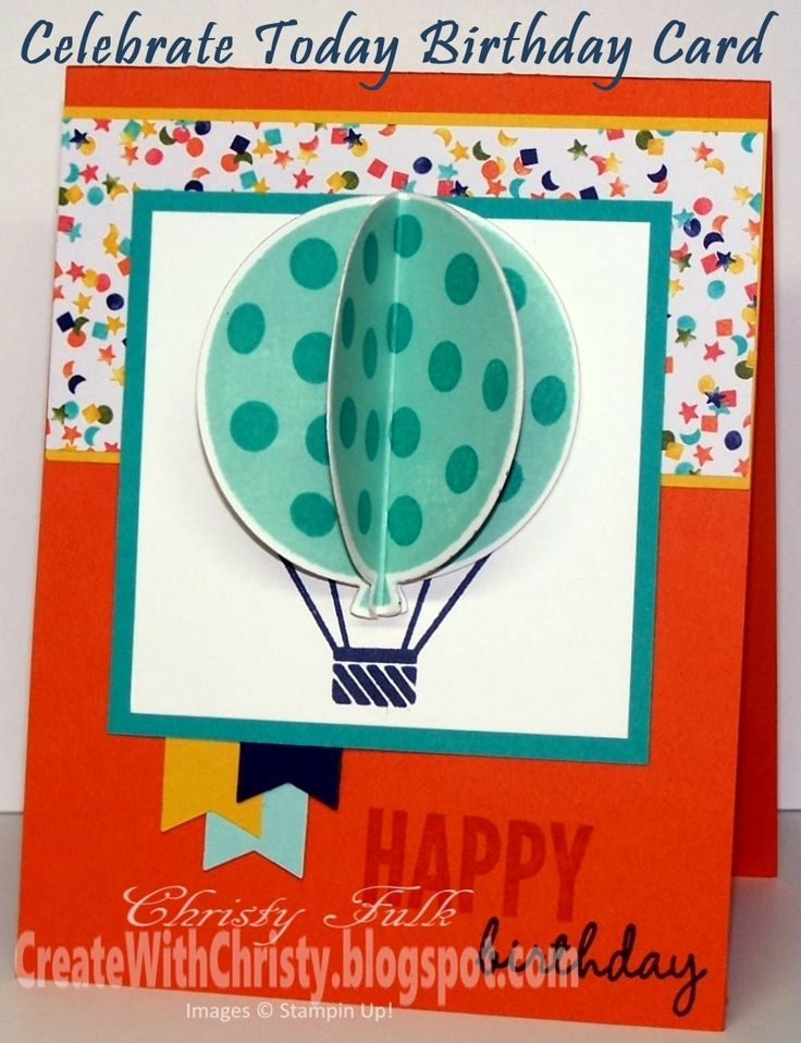 Create With Christy: Celebrate Today Birthday Card