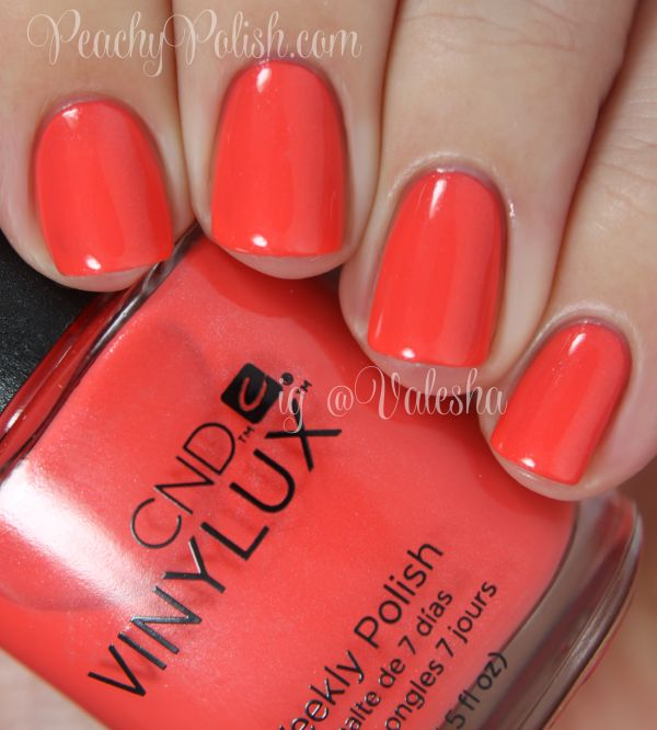 """""""Desert Poppy"""" is a coraly orange with a subtle golden shimmer."""