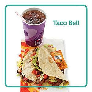 Top Fast-Food Picks for People with Diabetes   Diabetic Living Online GRILLED STEAK SOFT TACOS WITH MILD BORDER SAUCE & UNSWEET TEA. ACTUALLY, YOU COULD JUST ORDER ONE CRISPY BEEF TACO; IT'S ONLY 12 GRAMS OF CARBS ! THE MEAL SHOWN HAS 38 CARB GRAMS.