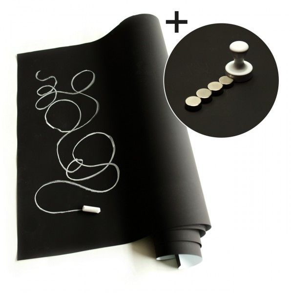 Magnet Chalkboard Wallpaper - this website actually sells & delivers to US