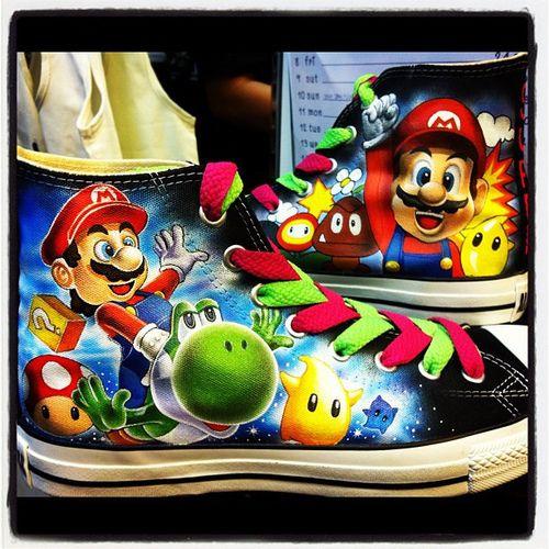 Super Mario Bros Shoes on Global Geek News.