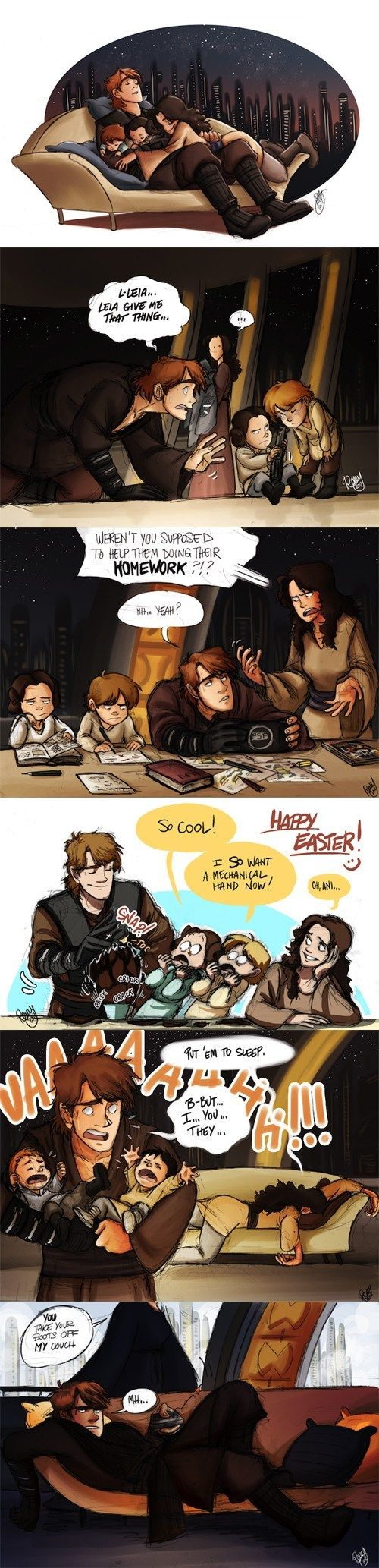 """If Anakin Hadn't Gone to the Dark Side""  Second one's my favorite!"