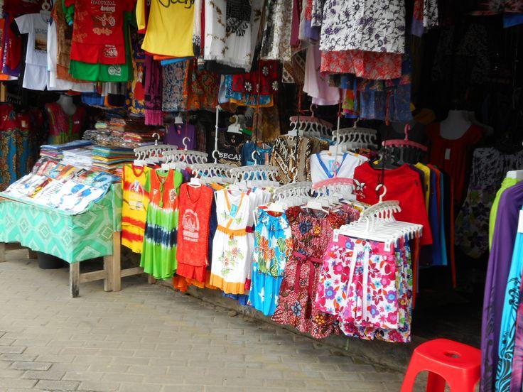 Clothes and souvenirs kiosk inside Borobudur.
