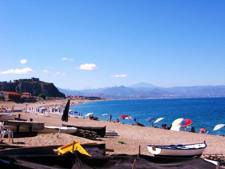 The beach and coastline of Milazzo