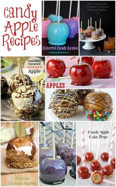 Candy Apple Recipe Ideas - a delicious collection of candy apple recipes that would make great treats for Halloween.