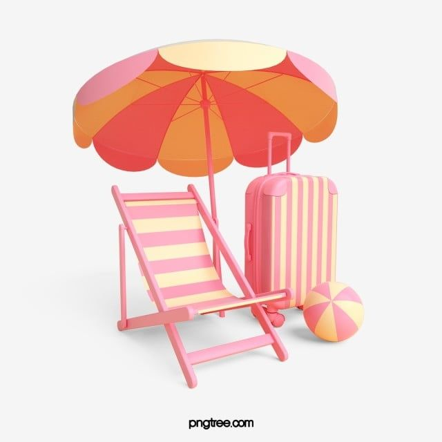 Pink Beach Vacation 3d Element Beach Chair Pink Yellow Png Transparent Clipart Image And Psd File For Free Download Pink Beach Photography Backdrops Diy Creative Advertising