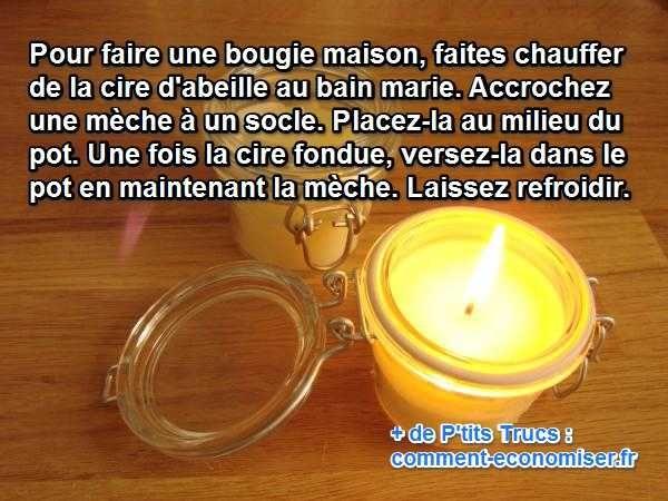Vous souhaitez fabriquer des bougies à la cire d'abeille ? Envie de créer une ambiance zen et feutrée chez vous ? Les petites bougies sont parfaites pour ça. Mais autant les fabriquer soi-même.  Découvrez l'astuce ici : http://www.comment-economiser.fr/faire-bougies-cire-abeilles-facilement.html?utm_content=buffer56497&utm_medium=social&utm_source=pinterest.com&utm_campaign=buffer