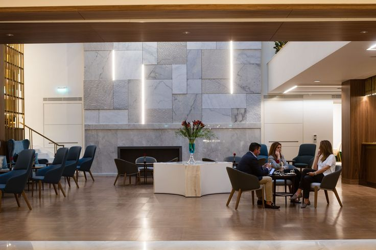 Relaxing environment for your business meeting, coffee, drink or snack at Atrium of Electra Metropolis Athens.