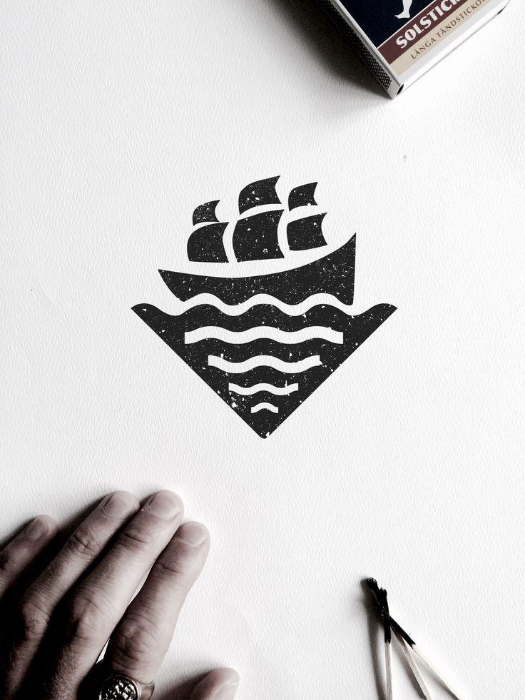 VISLA Graphic - illustration and logo design -- ship / ocean