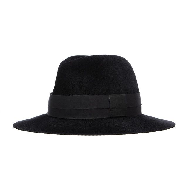 Undercover Black Wool Hat (1.620 BRL) ❤ liked on Polyvore featuring men's fashion, men's accessories, men's hats and mens wool hats