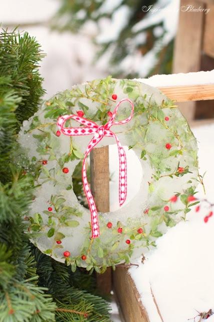 lovely Ice Wreath #Christmas