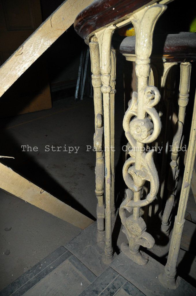 Cast Iron Stair Balusters | The Stripy Paint Company LTD - Building Conservation…