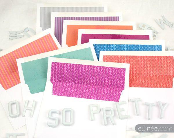 Pinterest - sample envelope liner template