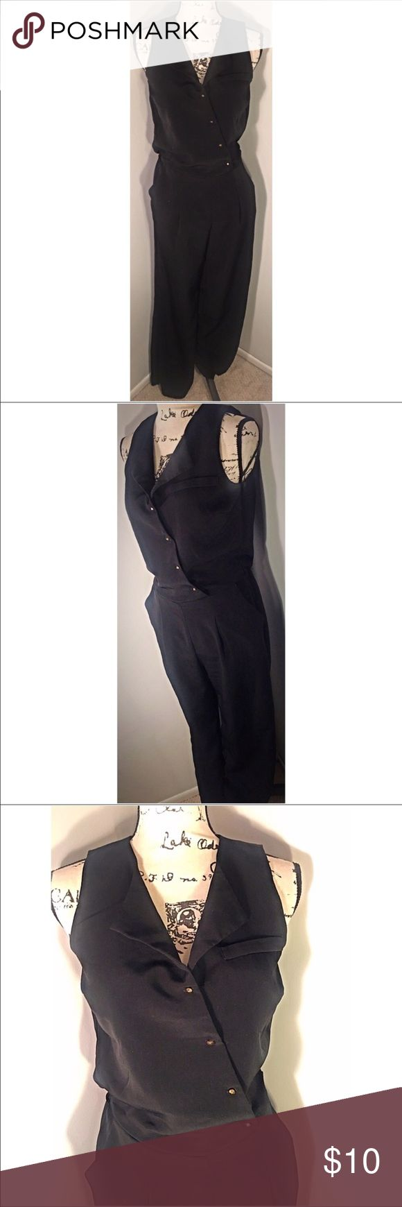 Tuxedo Style Jumpsuit Size Small Beautiful like 🆕 Forever 21 tuxedo style jumpsuit. Pyramid studded buttons. Excellent Condition. Size S.  Make this ☝🏾️treasure yours today ☺️. Don't be scared  to make an offer, you never know unless you try. Bundle  multiple items for the best savings. Pay one low price for shipping 🎁! Thanks for stepping into my closet  😘 Forever 21 Pants Jumpsuits & Rompers