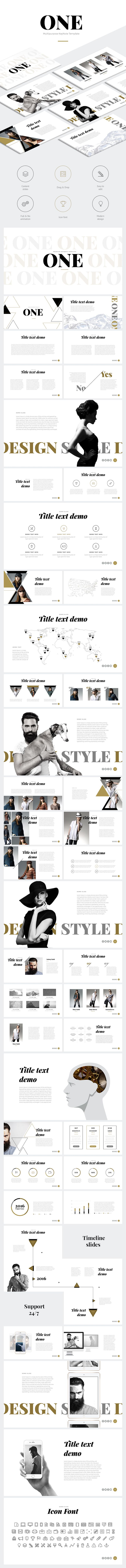 "Download: http://site2max.pro/one-keynote-template/ ""ONE"" Modern Keynote Template #one #modern #template #keynote #key #marketing #report #startup #fashion #creative #business"