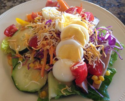 DASH diet salad. Learn how easy and quick it can be to pull together a healthy DASH diet meal with this fresh salad.
