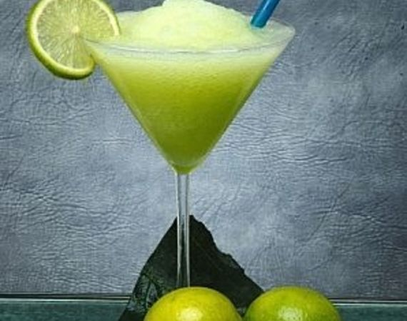 Non-alcoholic frozen Margarita ..... if you love the slushy taste of lime & salt, but don't drink alcohol ....