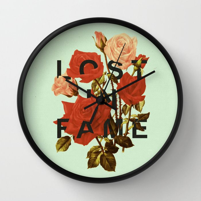 fresh idea whimsical clocks.  Lost In Fame Wall Clock by Heather Landis on Society6 58 best Clocks images Pinterest clocks Decor room
