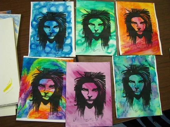 31 Best Painting With Linocut Images On Pinterest