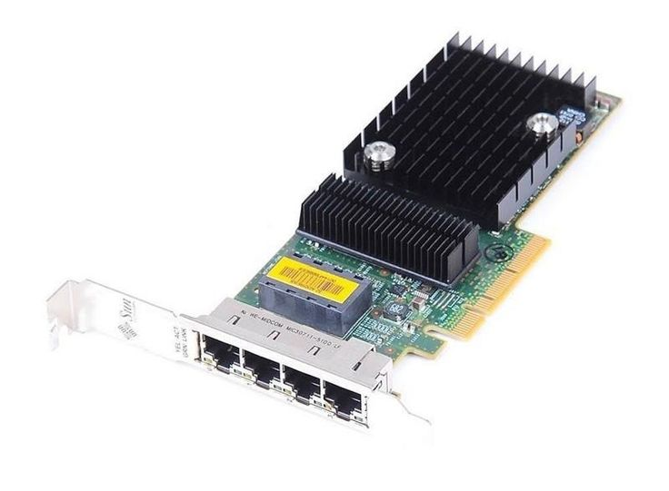 SUN Microsystems Quad GigaBit Ethernet Card With Standard Profile Bracket 501-7606-06 501760606