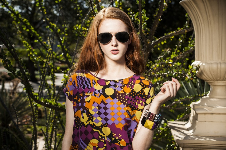 On trend for summer with spikes and bright colours