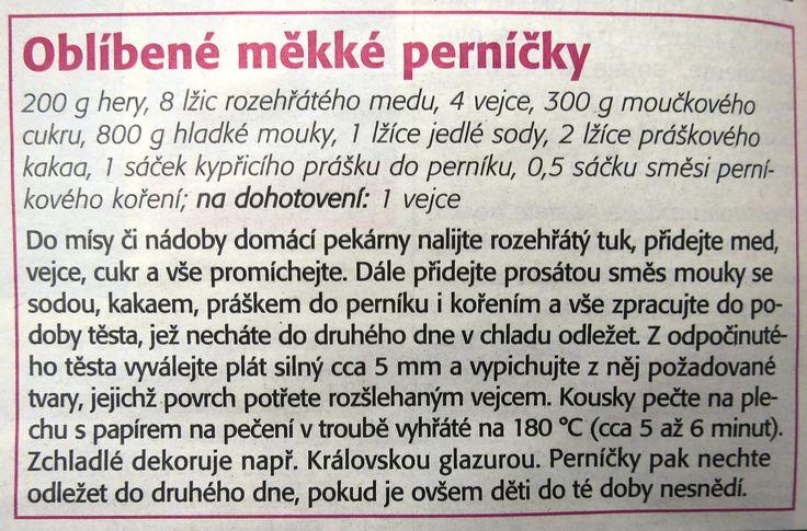 Perníčky ihned měkké (z časopisu 04-2015)