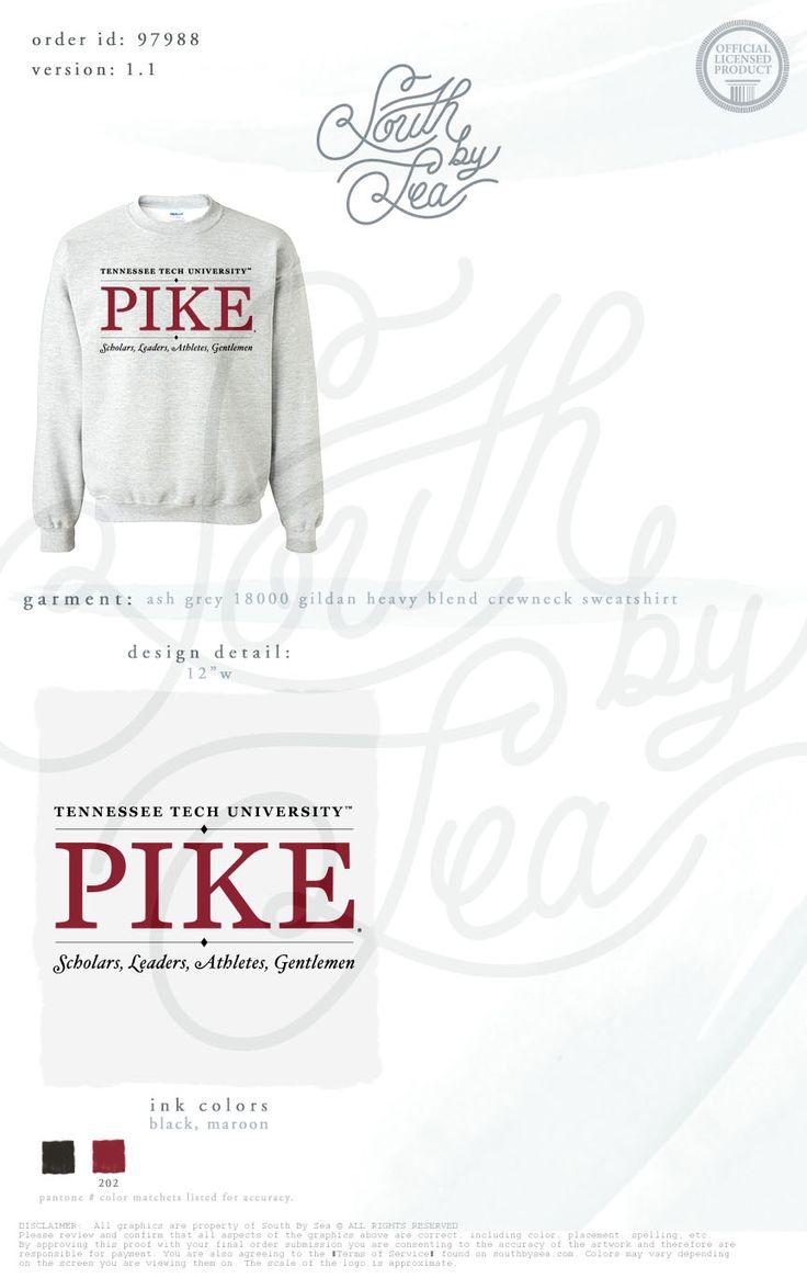 Pi Kappa Alpha | Tennessee Tech University | Pike Sweatshirt Design | South by Sea | Fraternity Shirts | Fraternity Tanks | Greek Shirts | TShirt Ideas | Tee Shirt Ideas
