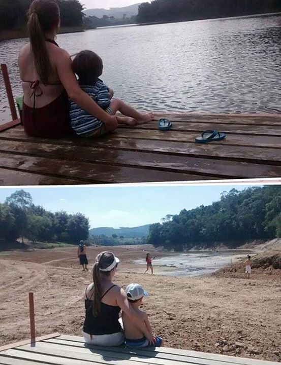 The same place a year later. Drought in Sao Paulo.