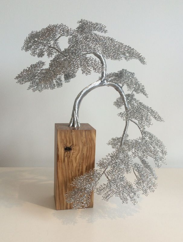 Beautiful handmade wire tree sculptures. Art for the home. - Crafts All Over