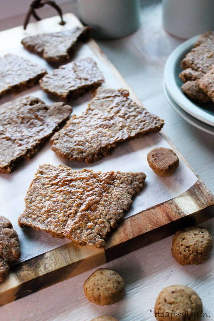 Recept voor speculaasbrokken. zelf gezonde speculaas brokken  maken met weinig ingrediënten  | It's a Food Life