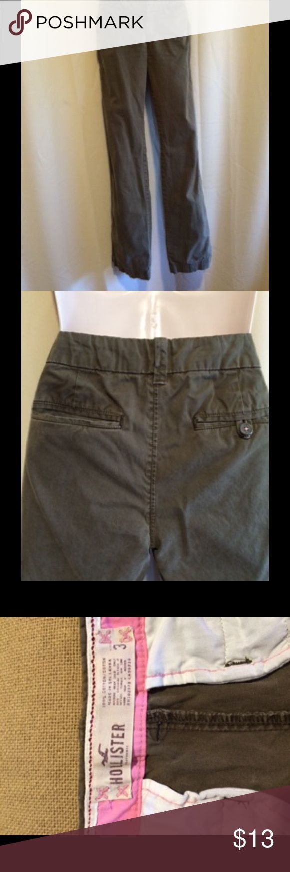 """HOLLISTER olive/army green slacks Versatile slacks for work or play. Can be dressed up with heels do dressed down with boots or sneakers. INSEAM is 32"""" Hollister Pants Trousers"""
