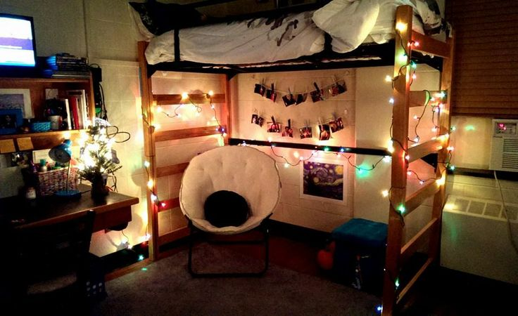Dorm Decor - String Lights College Living. Pinterest String lights, Dorm and Decor