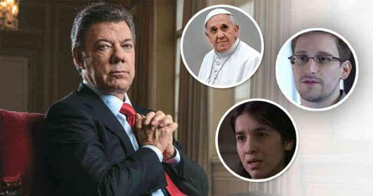 ¿A quién le ganó Santos el premio Nobel?
