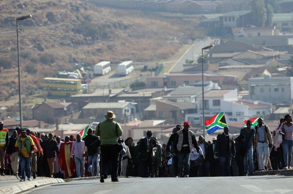 Thousands of people participate in a march to commemorate Youth Day in Soweto Township on June 16 2013 in Johannesburg South Africa Youth Day...