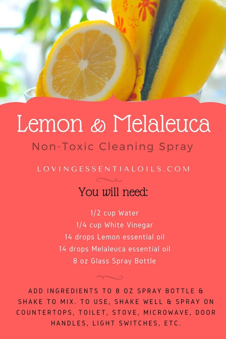 Lemon & Melaleuca Essential Oil Non-Toxic Cleaning Spray | Lemon Oil | Melaleuca Oil | Natural Cleaning | Healthy Living | Homemade Products For Clean Home