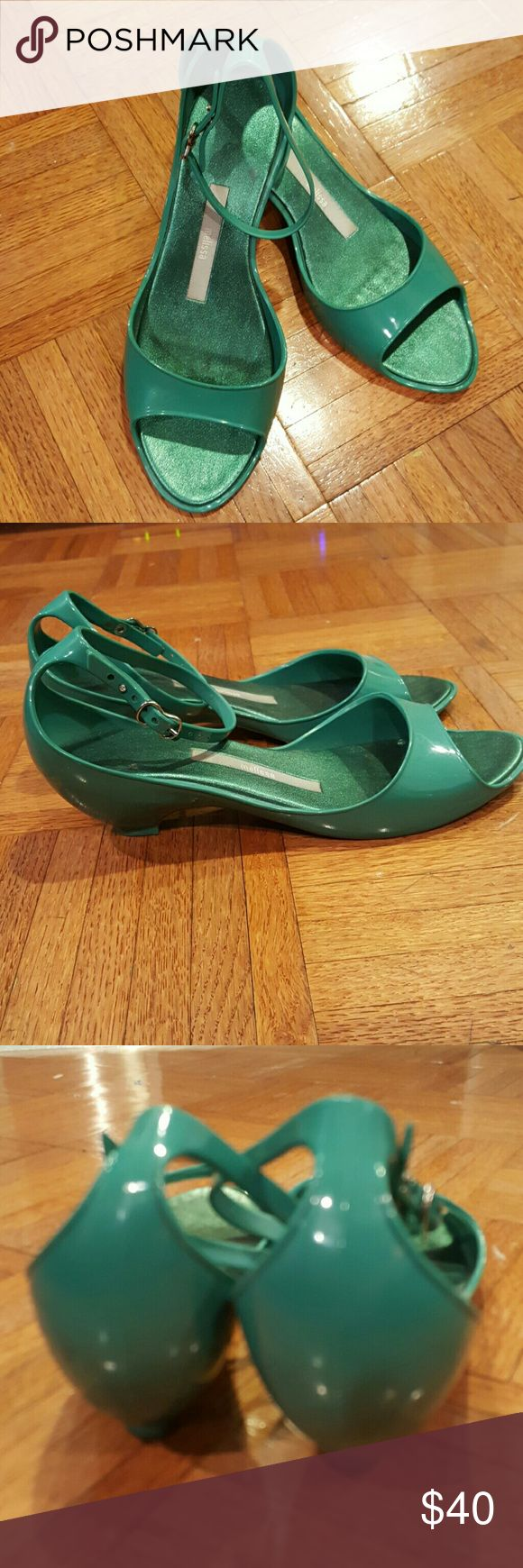 ??Melissa turquoise jellies Made in Brazil  In like new condition Melissa Shoes Sandals